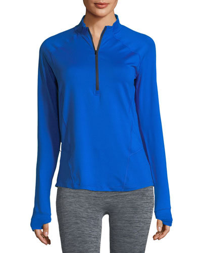 Run True Half-Zip Pullover Top