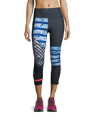 Mirror High-Rise Printed Crop Leggings