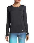 Threadborne Seamless Long-Sleeve Performance Top, Black
