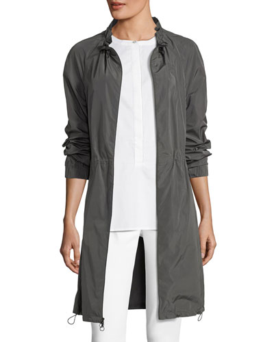 Lightweight Taffeta Draw-Cord Jacket
