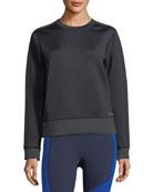 Luster Crewneck Long-Sleeve Sweatshirt
