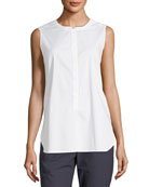 Solid Sleeveless Stretch Top