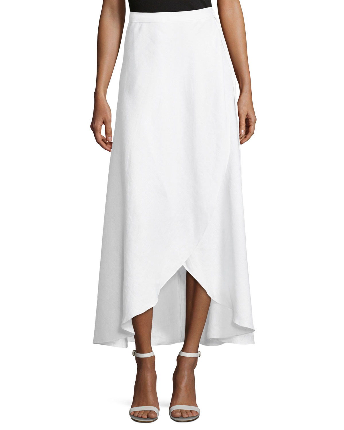 Ballerina Cotton Wrap Long Coverup Skirt