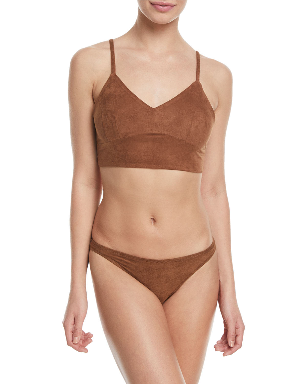 Morgan V-Neck Microsuede® Two-Piece Swim Set