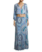 Miriam Paradise Long-Sleeve Top and Floor-Length Skirt