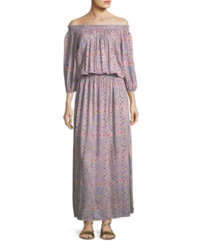 Faith Paisley Peasant Dress