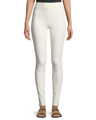 High-Rise Stretch-Gabardine Leggings