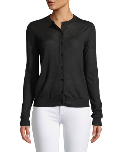 Cashair Cashmere Button-Front Cardigan