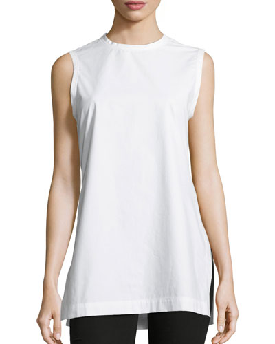 Lila Sleeveless Poplin Tunic