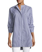 Carla Candy Striped Button-Front Tunic