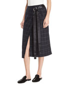 Omar Plaid Wrap Skirt