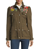 Huxley Embroidered Utility Jacket