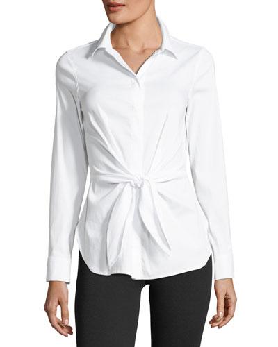 Shinto Tie-Waist Poplin Shirt