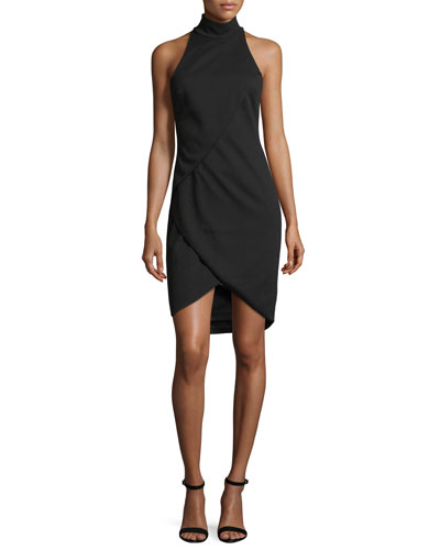 Orei Sleeveless Mock-Neck Sheath Dress