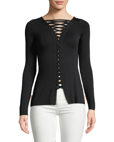 Kabuki Lace-Up Fitted Top