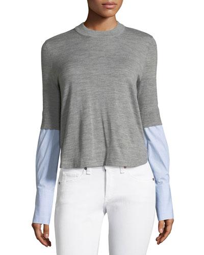 Roscoe Mixed-Media Sweater