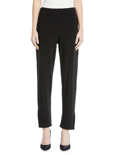 Polly Zip-Ankle Stretch Pants