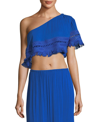 Helena One-Shoulder Crop Top