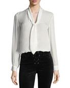 Gisele Necktie Silk Blouse