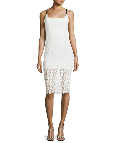Jessie Lace V-Back Sleeveless Cocktail Dress