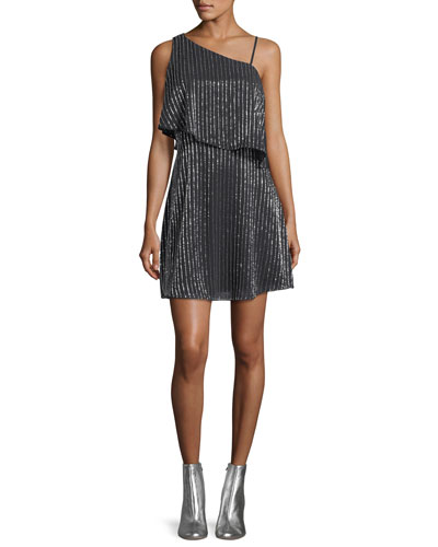 Hazel Asymmetric Sleeveless Mini Cocktail Dress