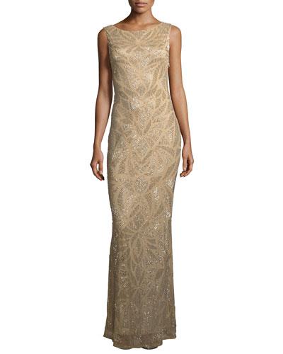 Vicky Embellished Scoop -Back Gown