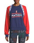 The Wembley Raglan Colorblocked Sweatshirt