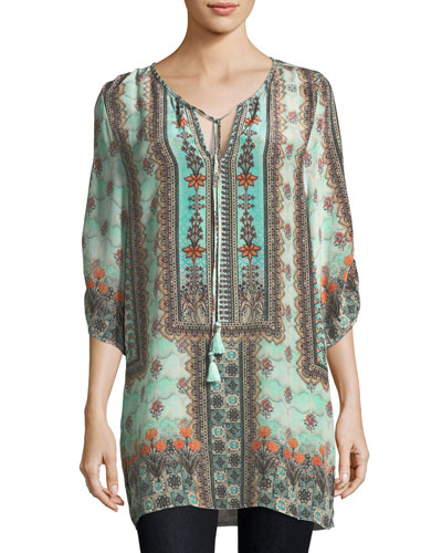 Kimberly Long Printed Tunic, Plus Size