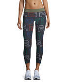 Across The Line Graphic-Print Ankle Leggings