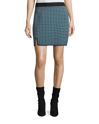 Monogram Jacquard Straight Skirt