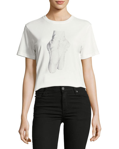 En Pointe Crewneck Graphic T-Shirt