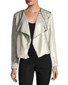 Bellwood Open-Front Sequined Jacket