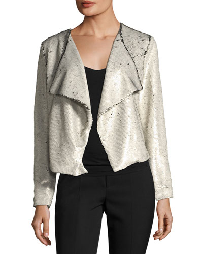 Bellwood Open-Front Sequined Jacket