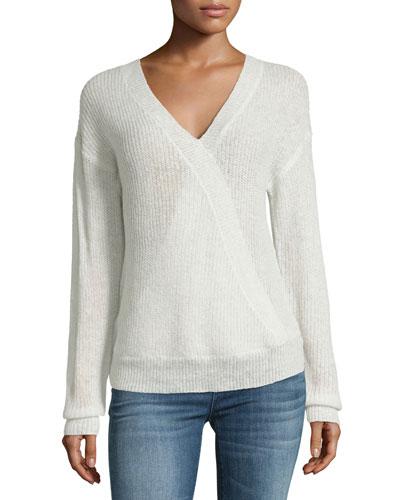 Sterberg Crossover V-Neck Knit Sweater