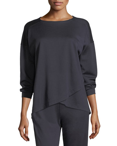 Crisscross Long-Sleeve Top