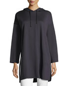 Eileen Fisher Long-Sleeve Oversized Hooded Tunic