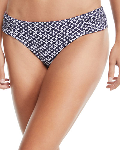 Petals of Paradise Reversible Side-Shirred Hipster Swim Bottoms