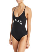 Farrah La Playa Scoop-Neck One-Piece Swimsuit