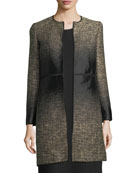 Erin Equinox Long-Sleeve Jacquard Coat