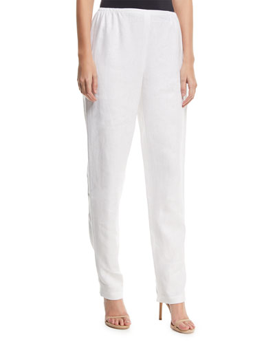 74e4ec20c6495 Quick Look. Caroline Rose · Slim-Leg Linen Pants