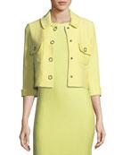Hannah-Knit Front-Snap Jacket