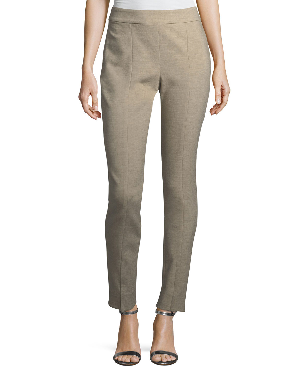Summer Bella Double-Weave Skinny Pants