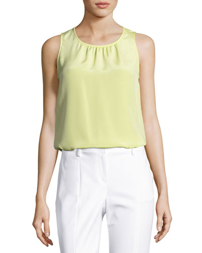 Stretch Silk Sleeveless Top
