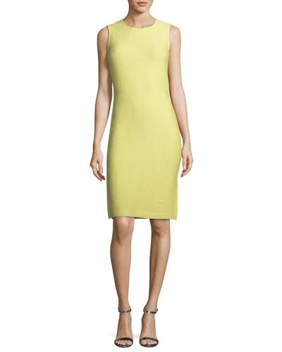 Hannah Side-Slit Knit Sheath Dress