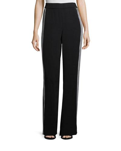 Drapey Side-Stripe Pants