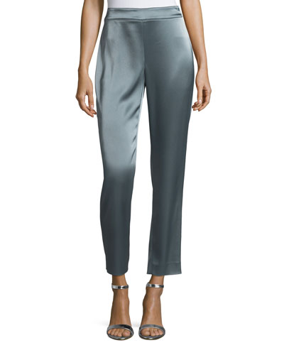 Liquid Satin Cropped Pants