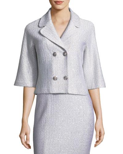 Ripple Texture Sequin Knit Jacket