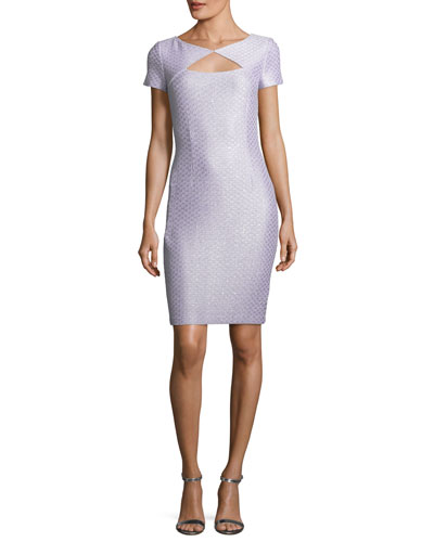 Hansh Sequin-Knit Cocktail Dress