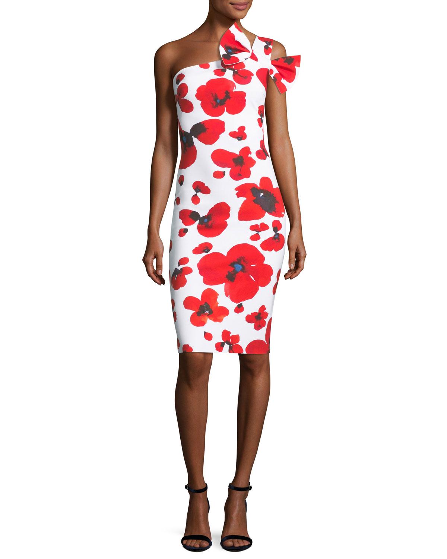 b59910258cf91 Manik Floral-Print One-Shoulder Cocktail Dress