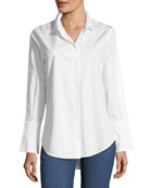 Rossi Button-Down Flare-Cuff Poplin Shirt